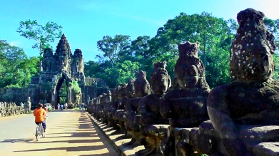 CAMBODIA: Gateway to Angkor Thom (translated: Great City). Pretty accurate I think you'll agree.