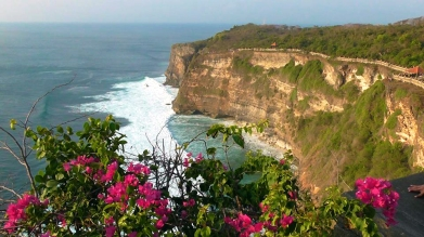 BALI: View from the top of Uluwatu Temple. What a stunner.