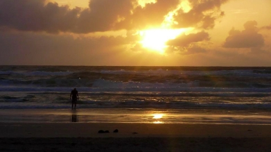 AUSTRALIA: Sunrise at the beach on Fraser Island (The world's largest sand island). Was worth dragging ourselves out of our tent at 5.30am.