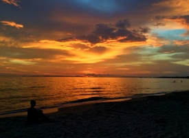CAMBODIA: Sunset on Otres Beach, Sihanoukville. Kept these quiet, didn't you Cambodia!