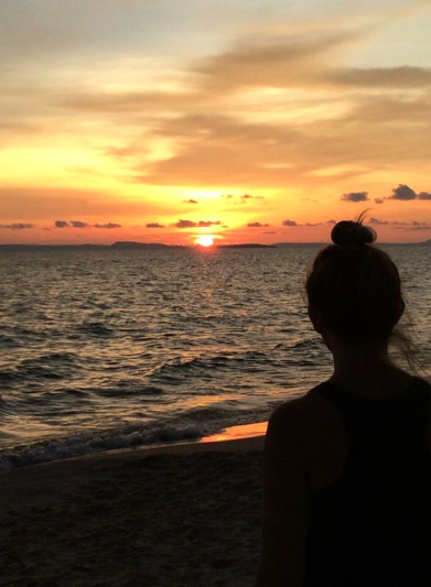 CAMBODIA: Watching the big yellow disappear on Otres Beach, Sihanoukville.