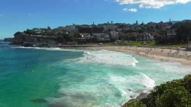 AUSTRALIA: The famous Bondi Beach - a great view to reward us from the Coogee to Bondi Coastal Cliff Walk.