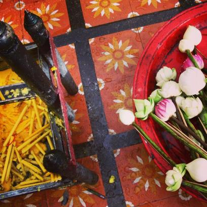 THAILAND: Offerings at the Doi Suthep Temple in Chaing Mai. So much beauty in one place.