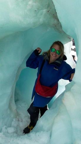 NEW ZEALAND: Hols having a ball doing the Franz Josef Ice Explorer hike. Bringing back bum bags.