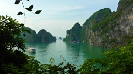 VIETNAM: View of Halong Bay from entrance to Sung Sot cave. Truly a cave of wonders.
