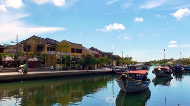 VIETNAM: Hoi An Thu Bon river - a cool place to chill by day or night.