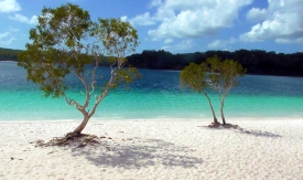 AUSTRALIA: Lake Mackenzie on Fraser Island. You can clean your teeth with sand from this freshwater lake, it's so darn fine.