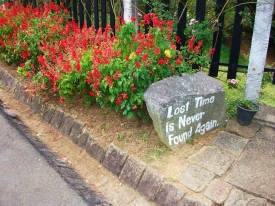 SRI LANKA: Cool quote found at Adisham Monestary in Haputale.