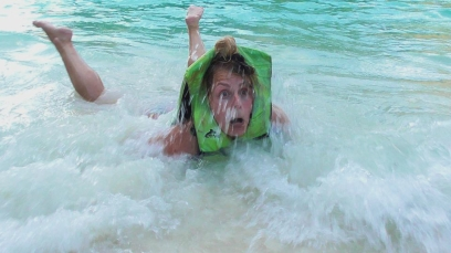THAILAND: Safety first at Maya Beach - demonstrated beautifully by Hols.