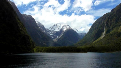 NEW ZEALAND: Milford Sound - a fjord, not a sound ironically. Still pretty cool though.
