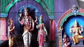 MALAYSIA: Hindu statues inside the Batu Caves. We love the colours!