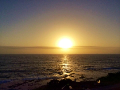 AUSTRALIA: The first sunrise of 2015 in Dee Why, Sydney.