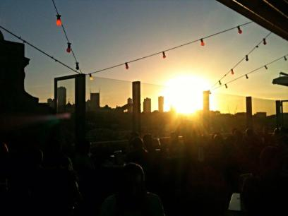 AUSTRALIA: Rooftop sunset in trendy Fitzroy, Melbourne. Yah yah yah, this is where the cool people hang.