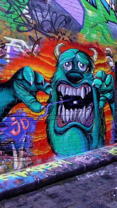 AUSTRALIA: Sully from Monsters Inc. in Hosier Lane, Melbourne. Rawr.
