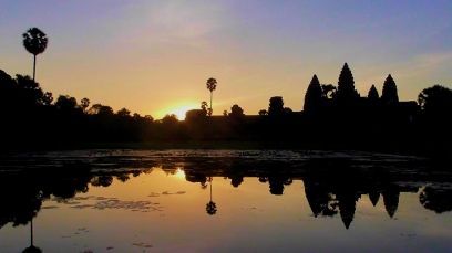 CAMBODIA: It was worth the 4.30am wake up call to watch the sun rise over Angkor Wat. A must do!