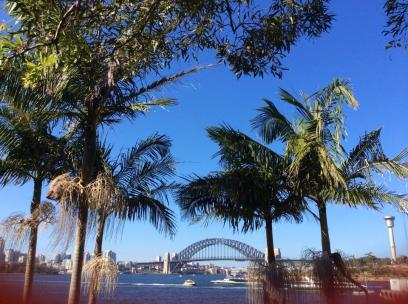 AUSTRALIA: View of the Sydney Harbour Bridge, 10 minutes from our house. Pretty sweet.