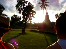 THAILAND: Sunset with friends in Sukhothai.