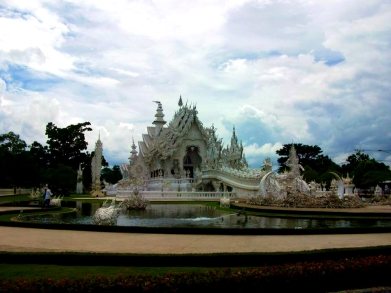 THAILAND: The White Temple in Chiang Rai. Possibly the most unconventional temple we've ever seen, but art for sure!