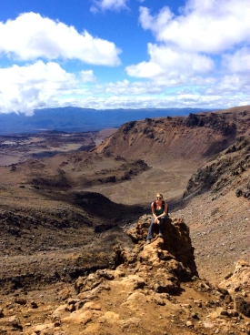 NEW ZEALAND: This big old place makes you feel pretty small on the Tongariro Crossing.