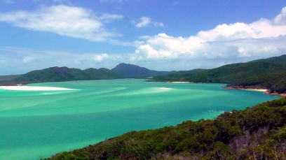 AUSTRALIA: View of Hill Inlet in the Whitsundays. Swirling patterns of sand and turquoise water make for some pretty awesome views.